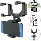 360° Universal Car Rearview Mirror Mount Holder Stand Cradle For Cell Phone GPS