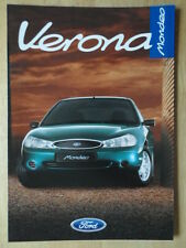 FORD MONDEO VERONA 1997 1998 UK Mkt sales brochure