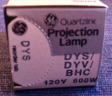 GE Quartzline Projection Lamp DYS/DYV/BHC 120v 600w 1 Lamp **NEW**