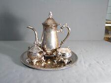 International Silver Company 4 piece Tea/Coffee Set Silverplate Creamer Sugar