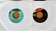 THE ZANIES - FRUSTRATION - (2) DORE LABEL 45'S - 1962 ISSUE AND 1975 ISSUE