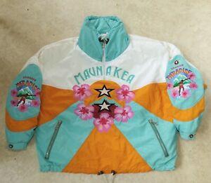 Vintage Bogner Mauna Kea Havaiian Paradise Embroidered jacket Surf Germany Goan