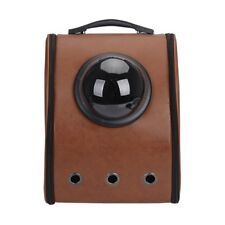 Pet Leather Travel Bubble Backpack Cat Small Dog Carrier Bag