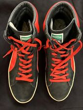 PUMA First Round EX RED BLACK SUEDE Leather Basketball Hi Tops  Shoes Mens 13