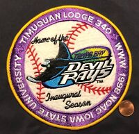 TIMUQUAN OA LODGE 340 NOAC 1998 MLB BASEBALL TAMPA BAY DEVIL RAYS JACKET PATCH