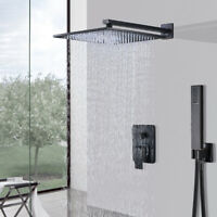 Shower Faucet System Combo 8 inch Rainfall Hand Shower Oil Rubbed Bronze Set