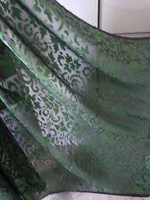 1M BLACK / GREEN  COLOURED BURNOUT FLORAL CHIFFON FABRIC 45 WIDE