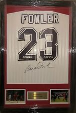 Signed Framed Robbie Fowler Retro Liverpool Number 23 Adidas 1995/96 Away Shirt