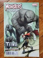 Monsters Unleashed #5 1:100 Sara Pichelli THOR Variant Marvel 2016 HTF!