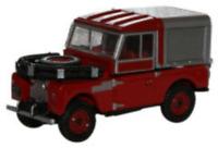 Oxford Diecast 76LAN188012 Land Rover Series 1 88 Fire - Red OO Gauge