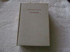Casanova's Memoirs translated from French - Arthur Machen Tudor Publishing 1945