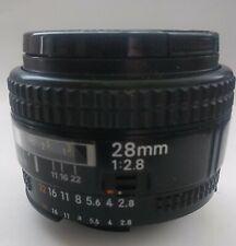 Nikon AF Nikkor 28mm F/2.8 Wide Angle Lens Made in Japan