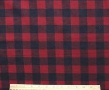 """SNUGGLE FLANNEL *1"""" BLACK & RED BUFFALO CHECK* 100% Cotton NEW *   BTY"""