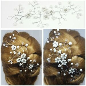 Wedding Hair Vine Crystal Bridal Accessories Flower Headpiece