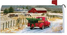Winter Christmas Tree Wreath Farm Truck Horse Cow Magnetic Mailbox Cover