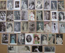 More details for actresses & actors job lot of 39x vintage postcards c1920/30s