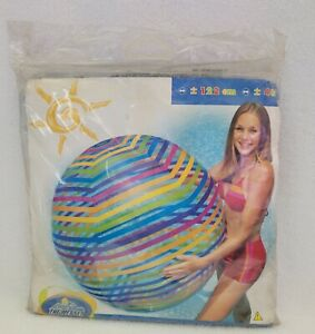 New Intex Wet Set Jumbo Beach Ball 48'' Inflatable Stripes Pattern 2003 Sealed