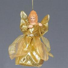 """ALBERO di Natale 6"""" Top/da appendere decorazione angelo-ORO"""