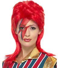 ANNI 70 '70 UOMO SPAZIO Superstar Parrucca Per Costume BOWIE Stardust Da Smiffys