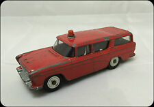 Dinky Toys Nash Rambler Fire Chiefs Car in Red Model no 257 Vintage