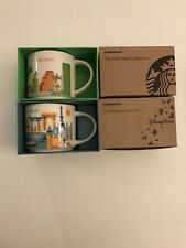 LOT OF 2: Orlando+ Disney EPCOT Version 3 You Are Here (YAH) Starbucks Mugs