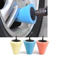 Wheel Hub Polish Buffing Shank Polishing Sponge Cone Metal Foam Pad Car 6MM
