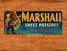 "TIN-UPS TIN SIGN ""Marshall Sweet Potato"" Kitchen Rustic Advertisement Wall Decor"