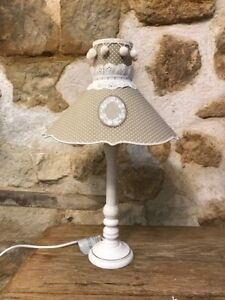 Lamp Polka-Dot With Medallion Embroidered