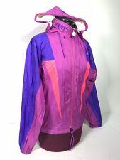 ASICS Vtg Gore Tex Lined Neon Color Block Windbreaker Hooded Jacket Full Zip