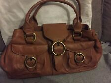 Tommy And Kate Genuine Leather Brown Shoulder Bag