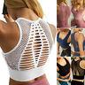 Women Seamless Push-Up Padded Yoga Top Cropped Sports Bra Vest Fitness Gym Slim