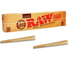 32 x Pre Rolled Cones - RAW Classic Cone Kingsize