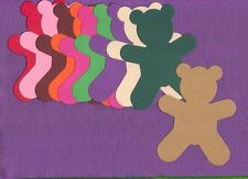 TEDDY BEAR die cuts scrapbook cards