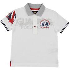 """LA MARTINA Jungen Poloshirt """"Polo Club"""" weiß Gr. 6/116, 8/128, 10/140 NEU"""