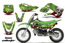 Decal Graphic Kit Wrap For Kawasaki KLX 110 2002-2009 KX 65 2002-2018 BONES GRN