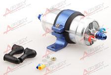 External Fuel Pump 044 for Bosch+Billet Bracket Blue+12AN Inlet 10AN Outlet Blue