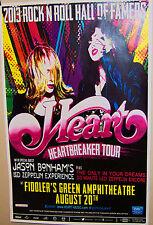 HEART Ann & Nancy Wilson Show Poster Denver Co JASON BONHAM'S Led Zeppelin Exp