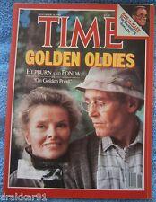 """TIME - November 16, 1981 - Katharine Hepburn and Henry Fonda in """"On Golden Pond"""""""