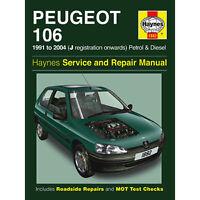 Nuovo Haynes Manuale Peugeot 106 91-04 Libro Riparazioni Auto Officina H1882