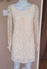 NEW Warehouse Cream Lace Shift Dress Size 8 Floral Formal Party Blogger Wedding