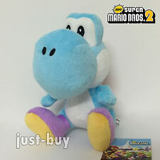New Super Mario Bros. Plush Blue Yoshi Soft Toy Doll Teddy Stuffed Animal 7""