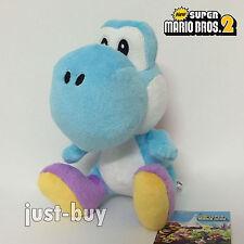"""New Super Mario Bros. Wii Blue Yoshi Plush Soft Toy Stuffed Animal Doll Teddy 7"""""""