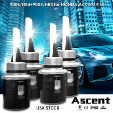 Cree 9005 9006 LED Headlight Kit For Honda Accord 4 dr. 2007-2002 Hi/Low Beam