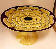 Birger Kaipiainen yellow Art food plate model 185 Florence Finland Arabia