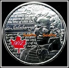 CANADA 2013 CANADIAN SALABERRY WAR OF 1812 RARE RED COLORIZED 25 CENT COIN UNC