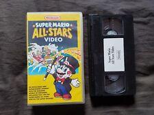 SUPER MARIO ALLSTARS VIDEO Nintendo VHS Tape SNES Super Nintendo