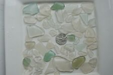 English Sea Glass from Cornwall  ... Wonderfull shades of White , weighing 215g