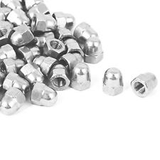 25Pcs 1/4 inch - 20 Stainless Steel Dome Head Cap Acorn Hex Nuts 25Pcs K5M9