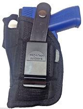 Gun Holster fits Taurus PT-709 Slim with Laser Pro-Tech Black Nylon