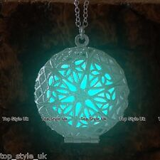 Aqua brillano al buio Collana Luminescente Cerchio Pendente Regalo Per Ragazza Amica mamma